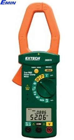 Single Phase/Three Phase 1000A AC Power Clamp Meter Extech 380976-K (1000A, True RMS)